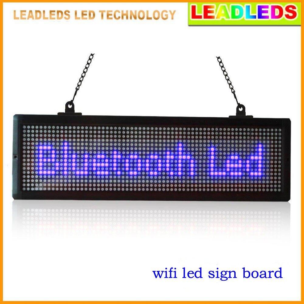 Outstanding Leadleds 21 X 6 3 Wifi Led Sign Scrolling Message Board Wiring Cloud Rometaidewilluminateatxorg