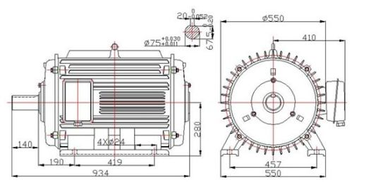 Tremendous China 30Kw 200Rpm Low Rpm Horizontal Permanent Magnet Generator Wiring Cloud Uslyletkolfr09Org
