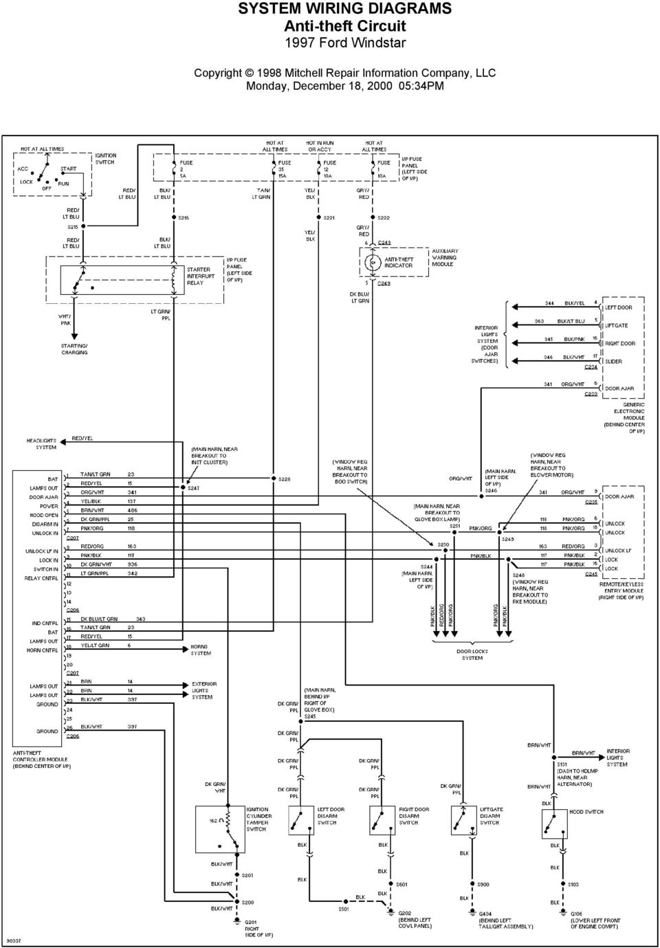 DE_9245] 1997 Ford Windstar System Wiring Diagrams For Front Washer WiperRious Umng Rect Mohammedshrine Librar Wiring 101