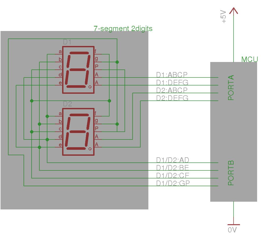 Incredible Microcontroller Improving Brightness Of Multiplexed 7 Segment Led Wiring Cloud Timewinrebemohammedshrineorg