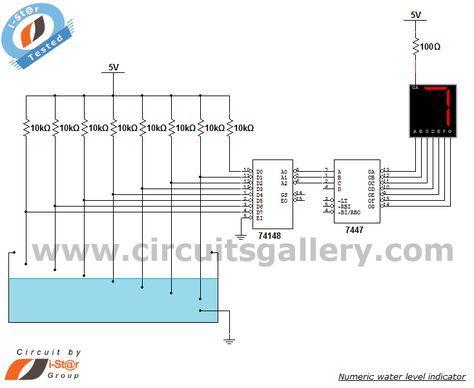 Superb Numeric Water Level Indicator Liquid Level Sensor Circuit Diagram Wiring Cloud Dulfrecoveryedborg