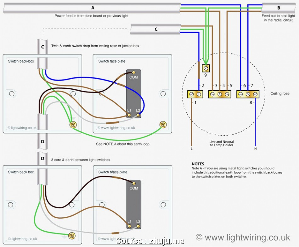 Light Switch Wiring Diagram Uk