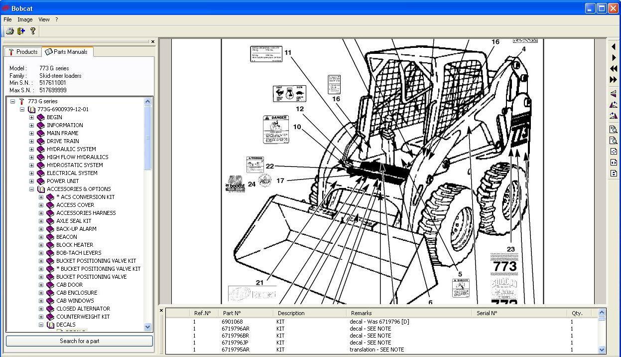 En 1658  Bobcat 773 Parts Diagram Engine Free Diagram
