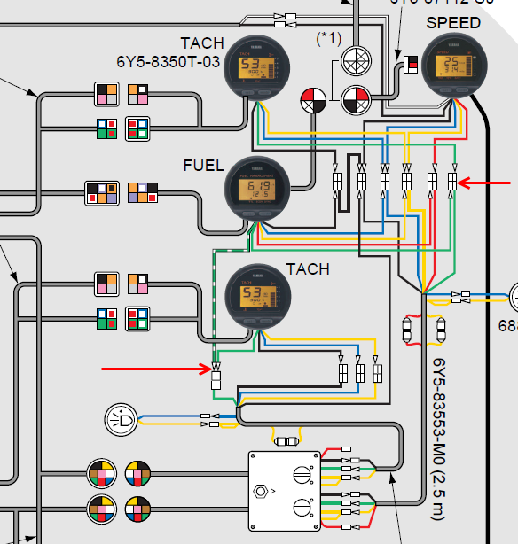 Kr 0487 Yamaha Outboard Fuel Gauge Wiring Diagram Schematic Wiring