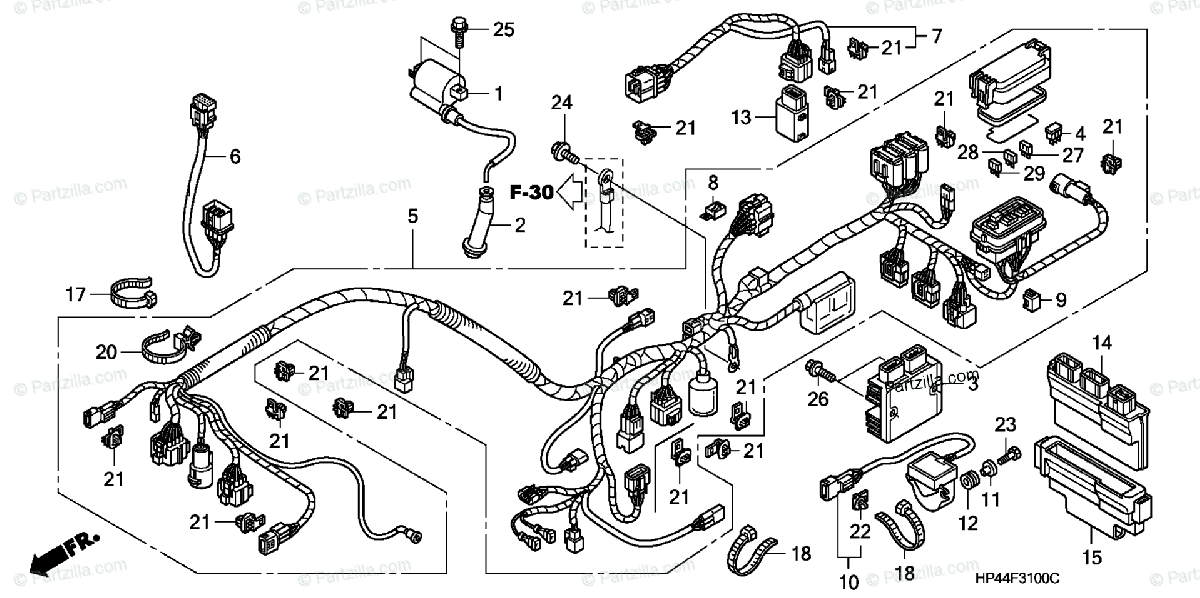 Strange Honda Atv 2007 Oem Parts Diagram For Wire Harness Partzilla Com Wiring Cloud Rdonaheevemohammedshrineorg