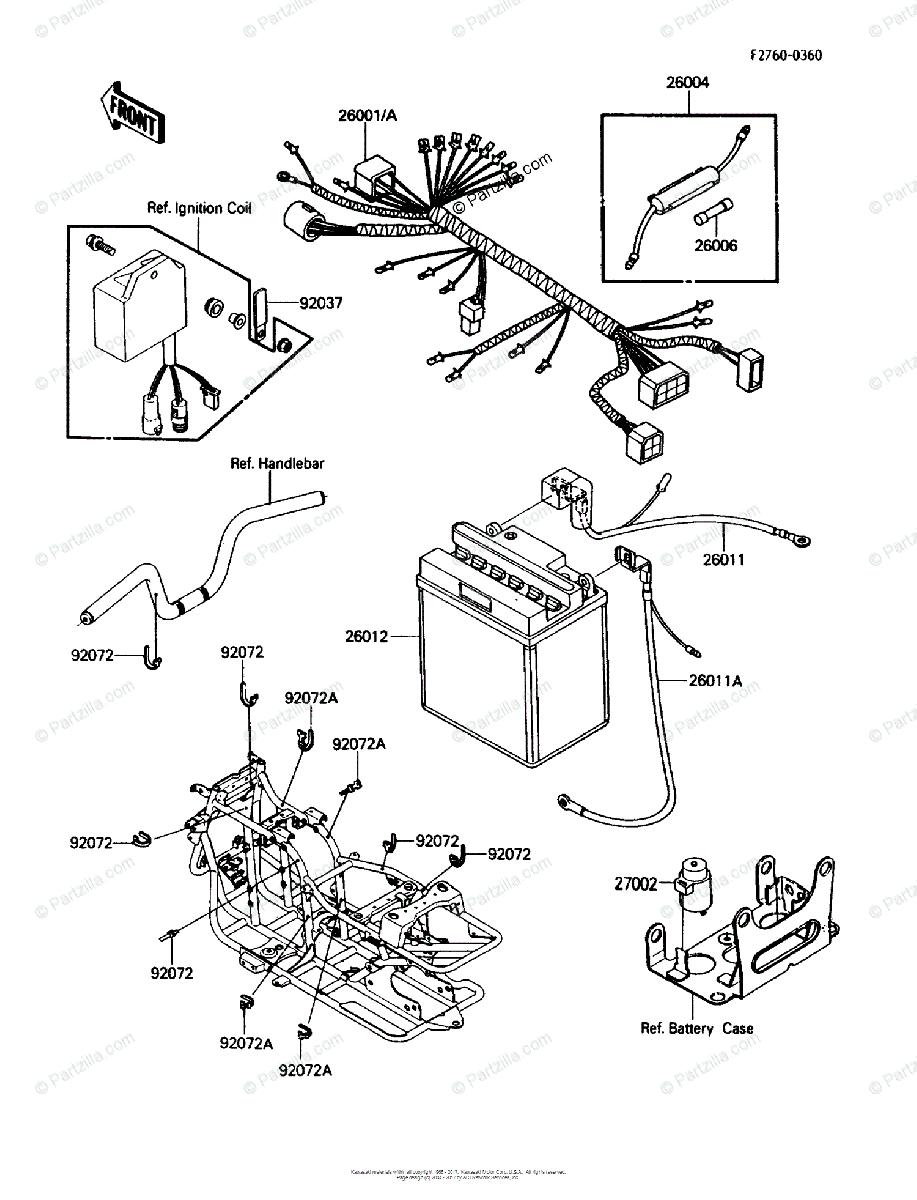 Be 1944 1988 Kawasaki Bayou 220 Wiring Schematic Free Diagram