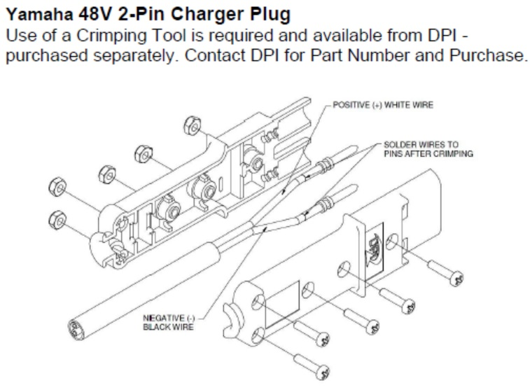 nw4928 old yamaha electric golf cart battery diagram