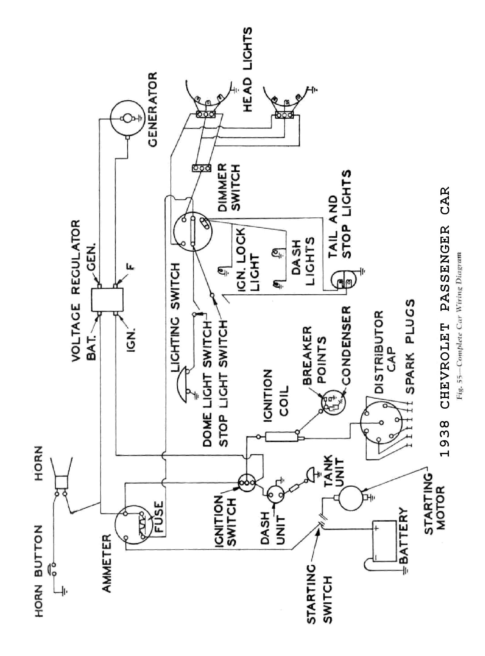 CHEVROLET WIRING DIAGRAMS ELECTRICAL SCHEMATICS 1949-1954 SCHEMATIC DIAGRAM