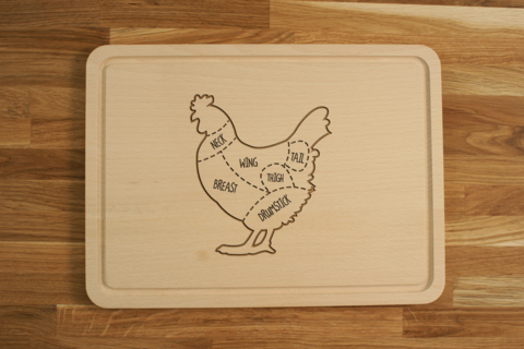 Wondrous Personalized Engraved Wooden Chopping Cutting Board Chicken Cuts Wiring Cloud Mousmenurrecoveryedborg