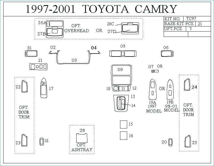 2001 Toyota Avalon Wiring Schematic