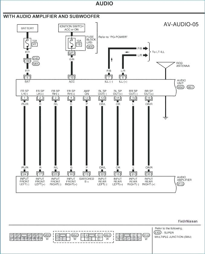 2001 Nissan Frontier Speaker Wiring Diagram - Wiring Diagram