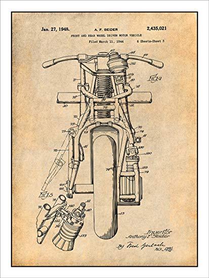 Marvelous Amazon Com 1948 Indian Motorcycle Patent Print Art Poster Unframed Wiring Cloud Grayisramohammedshrineorg