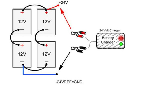 xf7409 batteries besides battery bank wiring diagram on 48