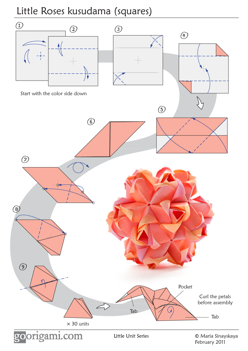 Easy to understand Origami Rose Instructions | Easy origami rose ... | 1132x800