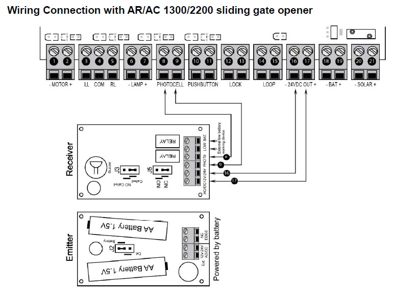 gate photocell wiring diagram  3 wire single coils in