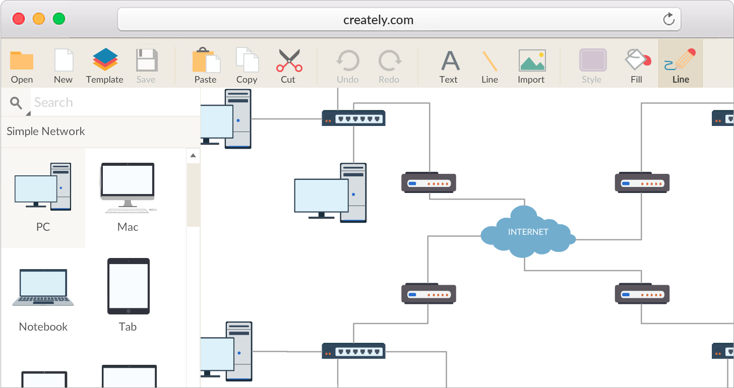 Superb Network Diagram Software To Quickly Draw Network Diagrams Online Wiring Cloud Mousmenurrecoveryedborg