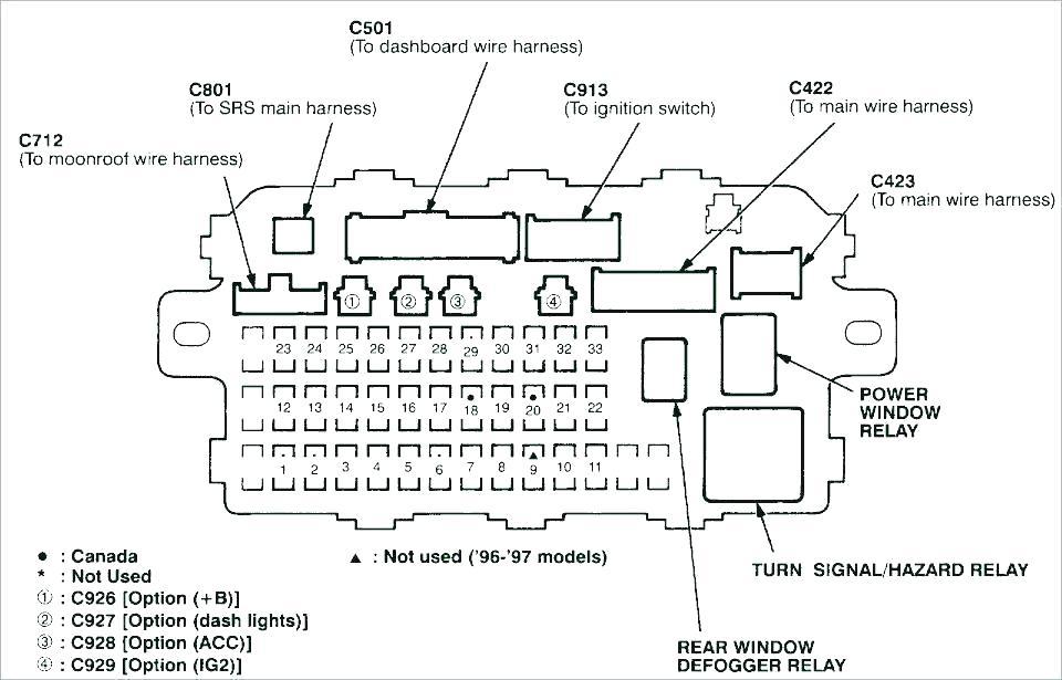Radio Wiring Diagram 97 Honda Civic - Wiring Diagram