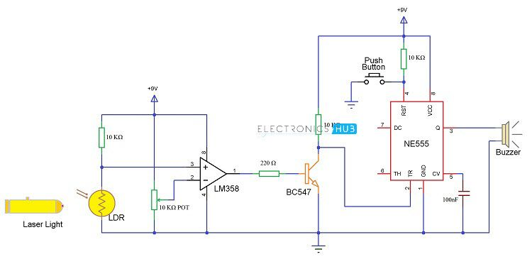Enjoyable Wireless Security System Wireless Security System Circuit Diagram Wiring Cloud Domeilariaidewilluminateatxorg