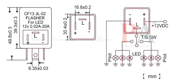 km1707 12v led wiring diagram hazard switch 3 free diagram