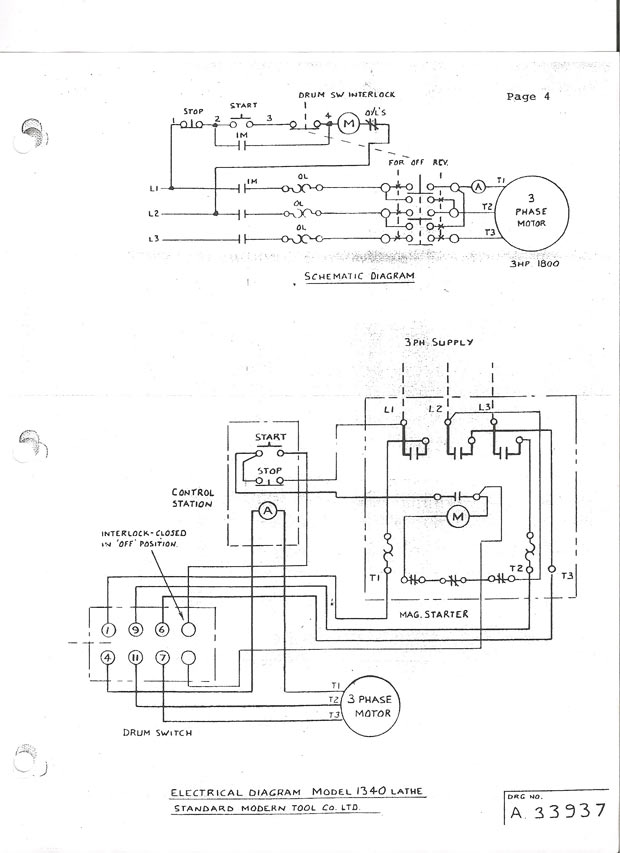 wiring diagram of single phase motor starter  3gen rx7