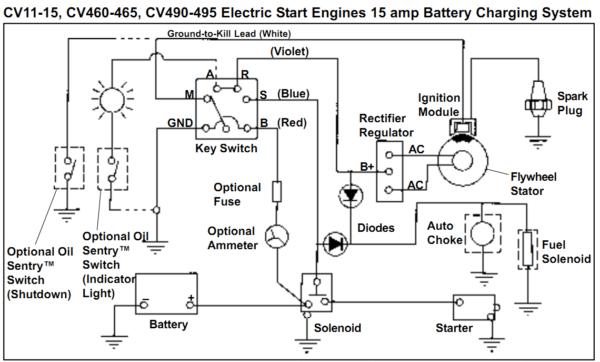 ss8002 lawn mower rectifier wiring diagram schematic wiring