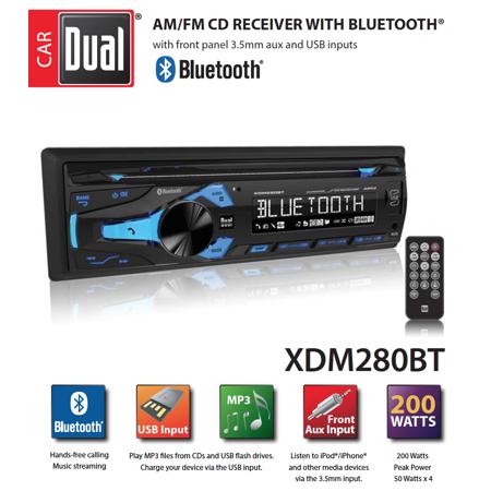 Fabulous Dual Electronics Xdm280Bt Multimedia Detachable 3 7 Inch Lcd Single Wiring Cloud Onicaalyptbenolwigegmohammedshrineorg