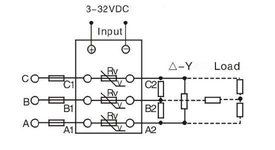 Superb Solid State Relay 3 Phase Ssr 10Da 10A 3 32V Dc To Ac Ato Com Wiring Cloud Gufailluminateatxorg