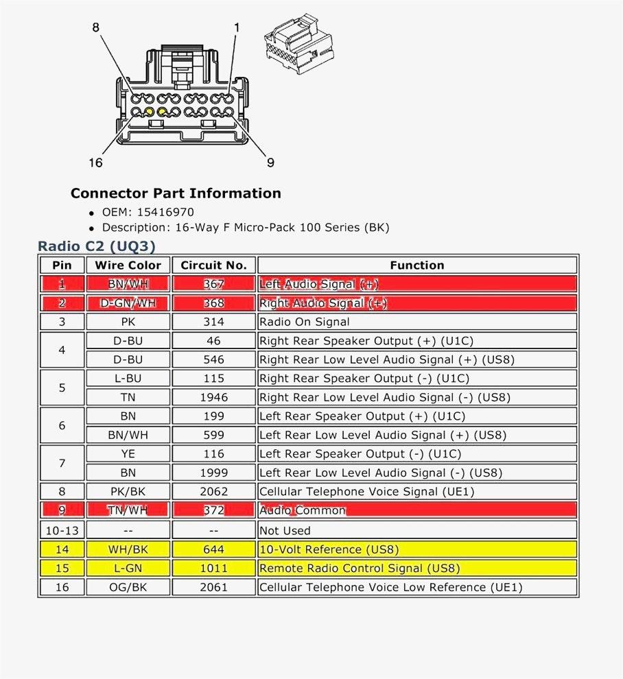 2007 Chevy Cobalt Radio Wiring Diagram - Database