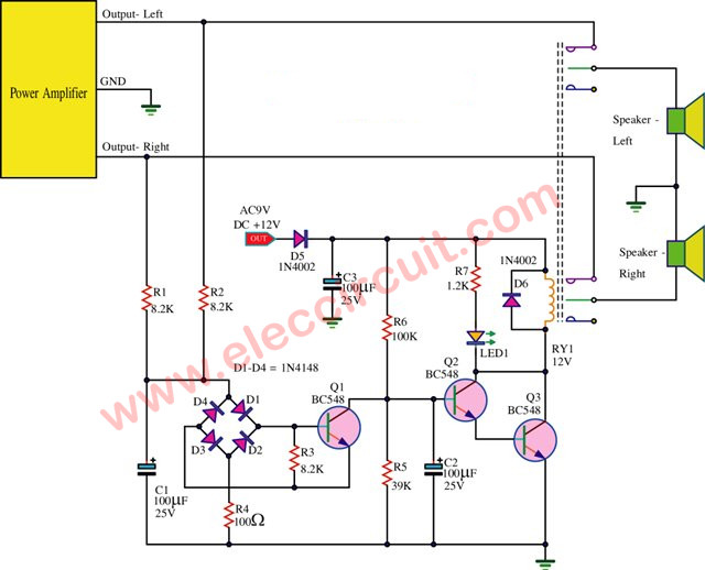 Amazing Speaker Protection Circuit With Pcb Layout Eleccircuit Com Wiring Cloud Waroletkolfr09Org