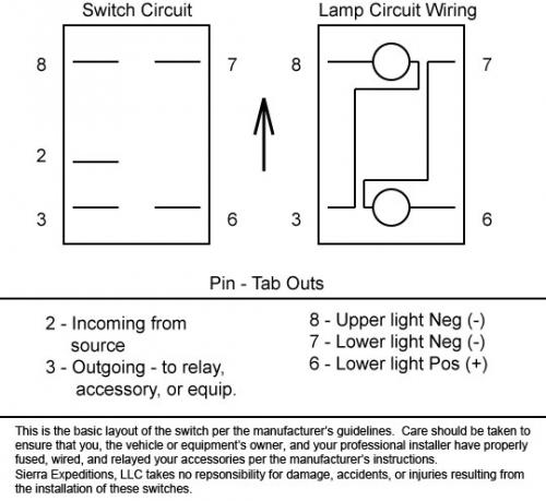 oe8498 switch wiring diagram 7 pin on 8 pin toggle switch