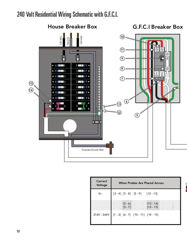 bz4228 wiring diagram for ground fault breaker schematic