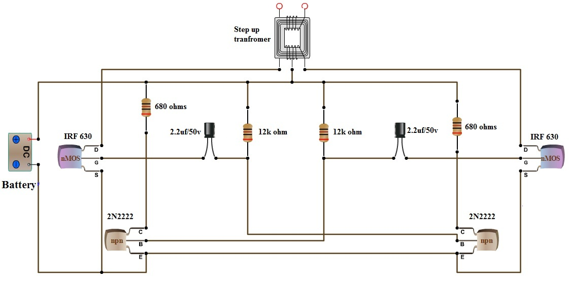 Awe Inspiring How To Make 12V Dc To 220V Ac Converter Inverter Circuit Design Wiring Cloud Uslyletkolfr09Org
