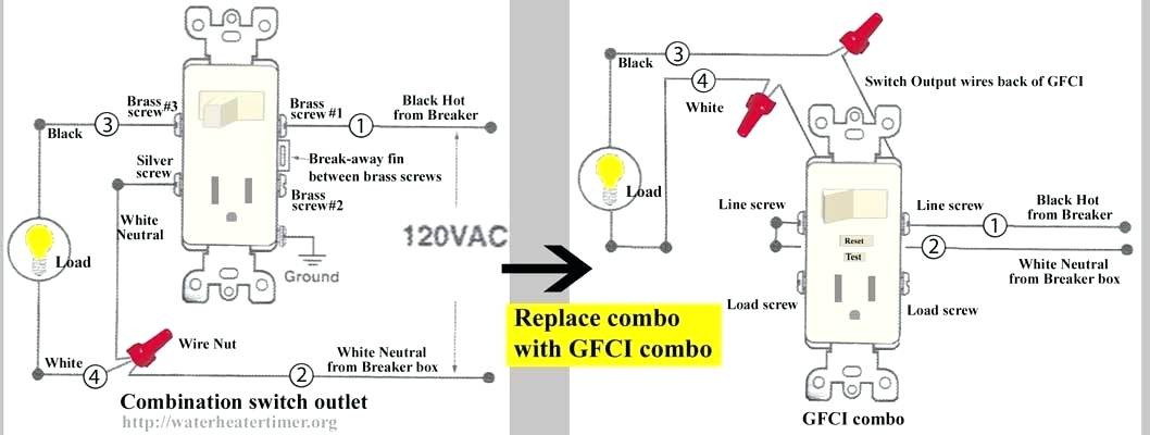Wiring Diagrams For Gfci Switch Combo