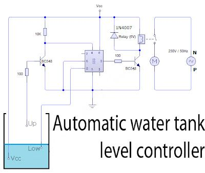 Pleasing Automatic Water Tank Level Controller Circuit Schematic Diagram Wiring Cloud Itislusmarecoveryedborg