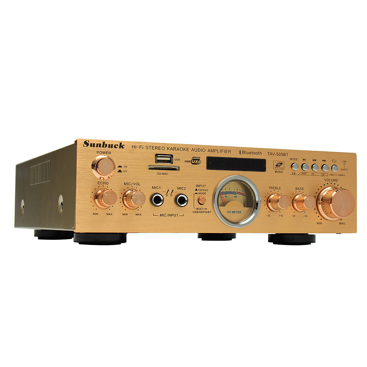 Amazing Sunbuck Tav 505Bt 400W 400W Hifi Bluetooth Power Vu Meter Amplifier Wiring Cloud Rineaidewilluminateatxorg