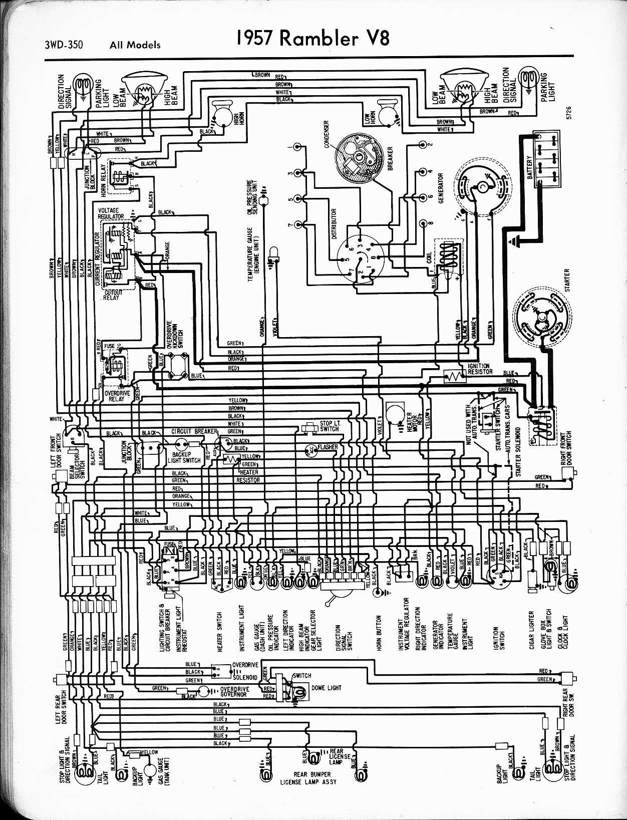 Astonishing Rambler Wiring Diagrams The Old Car Manual Project Wiring Cloud Licukshollocom