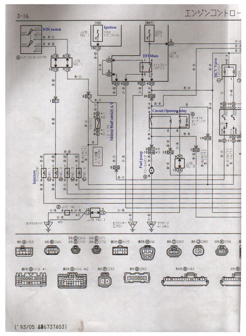 1992 Toyota Corolla Electrical Wiring Diagram
