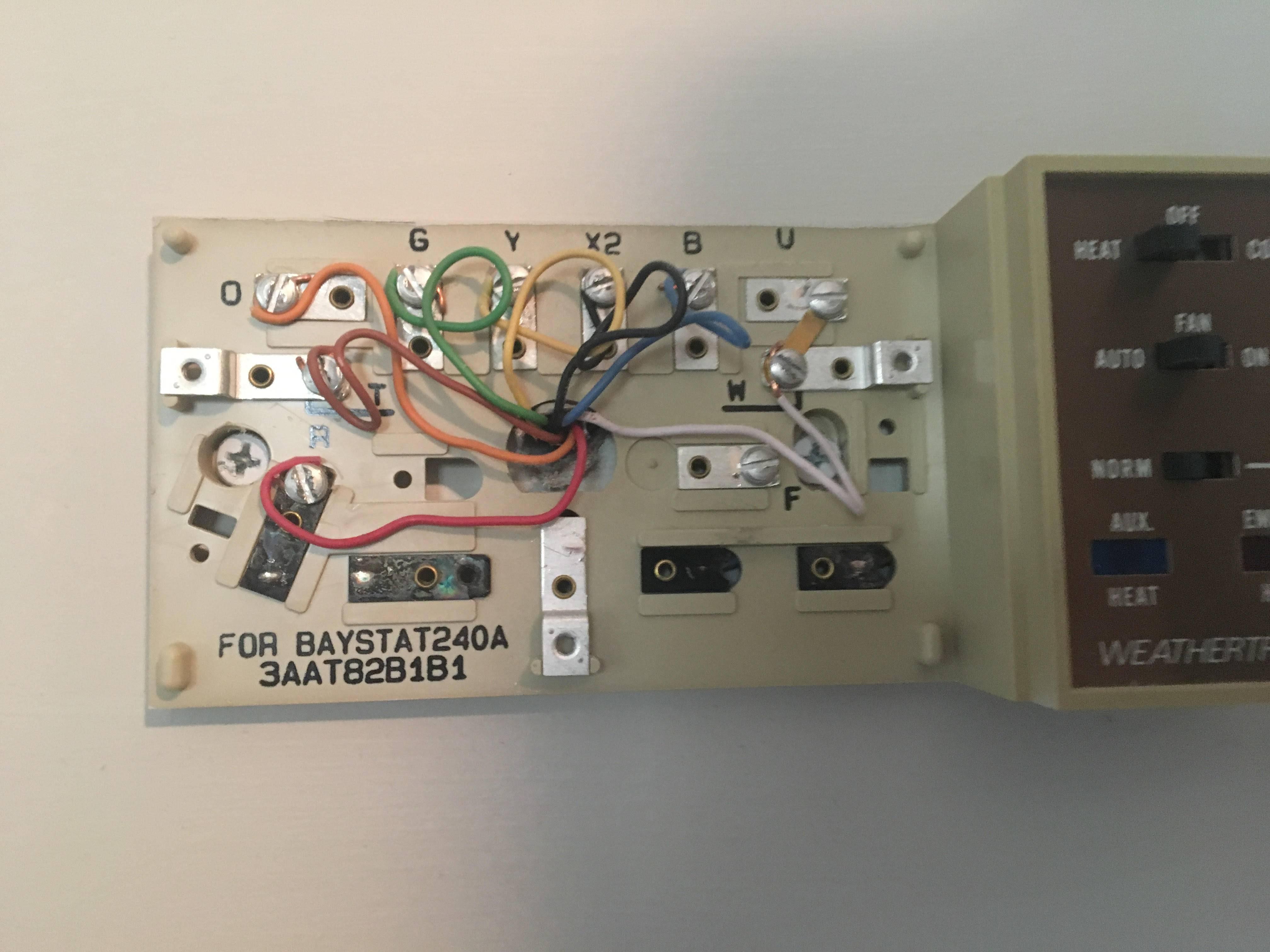 Trane Weathertron Baystat 239 Thermostat Wiring Diagram
