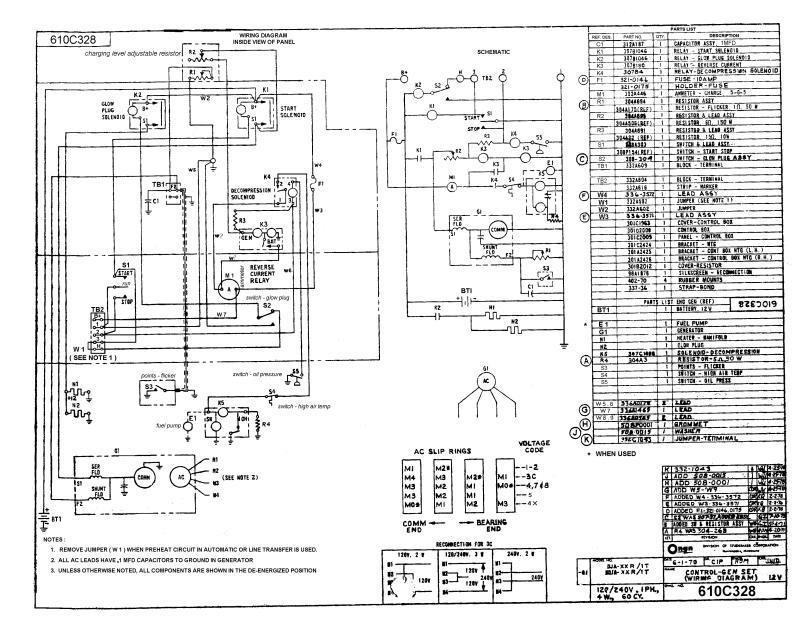 Onan Generator Electrical Schematics