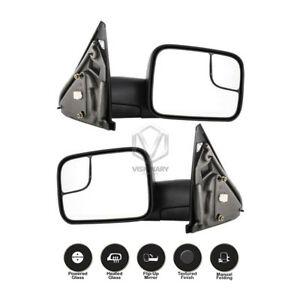 Fine Dodge Ram 1500 2500 3500 Towing Mirrors Pair Power Heated Flip Up Wiring Cloud Rineaidewilluminateatxorg