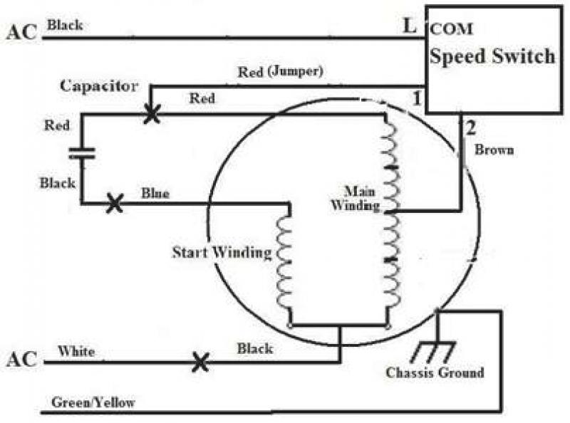 3 speed fan wiring diagrams xb 4313  condenser fan motor wiring diagrams 3 wire also 3 speed  condenser fan motor wiring diagrams 3