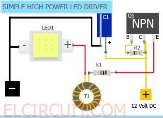 Tremendous Simple 10W High Power Led Driver Circuit 10W 12V Easy Led Power Wiring Cloud Rometaidewilluminateatxorg