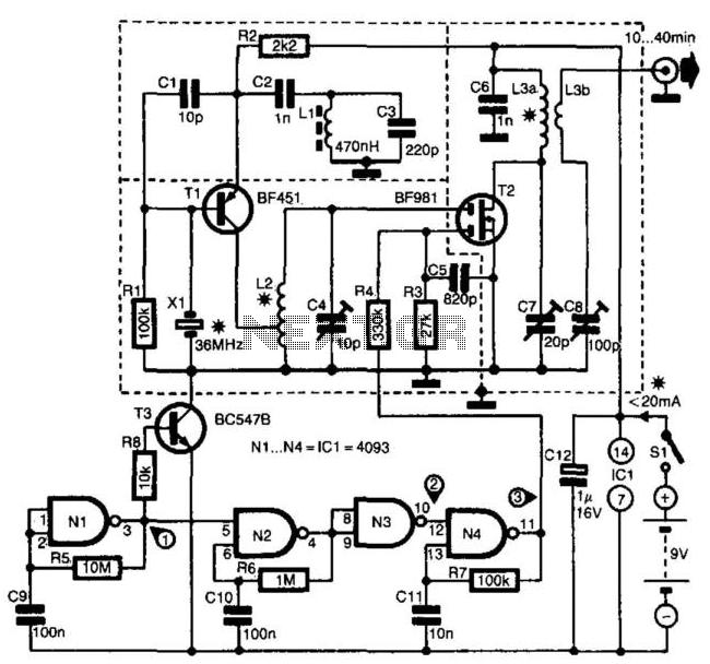 Zw 9083  Transmitter Circuit Rf Circuits Nextgr Free Diagram