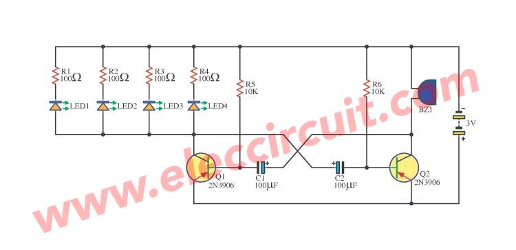 Awesome 3 Simple Metronome Circuits Using Transistors Eleccircuit Com Wiring Cloud Filiciilluminateatxorg