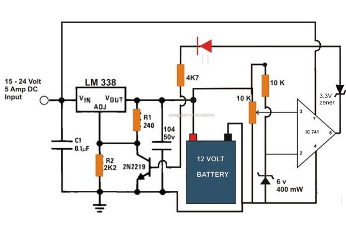 Amazing A Simple Yet Accurate Automatic Regulated 6V 12V 24V Lead Acid Wiring Cloud Icalpermsplehendilmohammedshrineorg