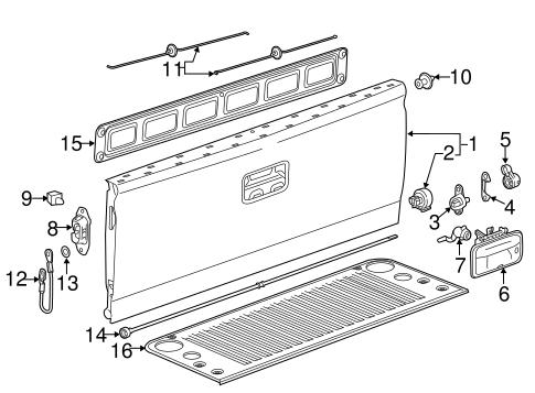 xs 5738  rear tailgate diagram furthermore door lock | 1998 Chevrolet Silverado Fuse Diagram |  |