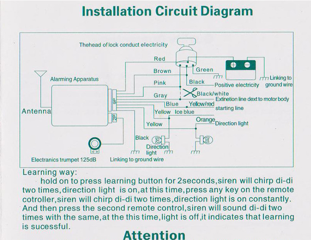 ca1296 motorcycle alarm number 2 free diagram