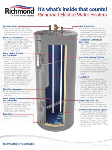 kn6484 richmond hot water heater wiring diagram electric