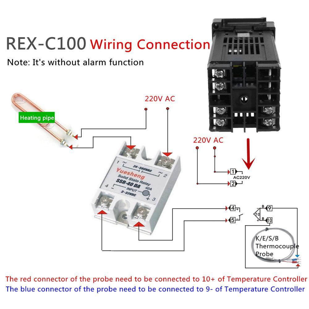 Ob 6259 With Rex C100 Temperature Controller Wiring Diagram