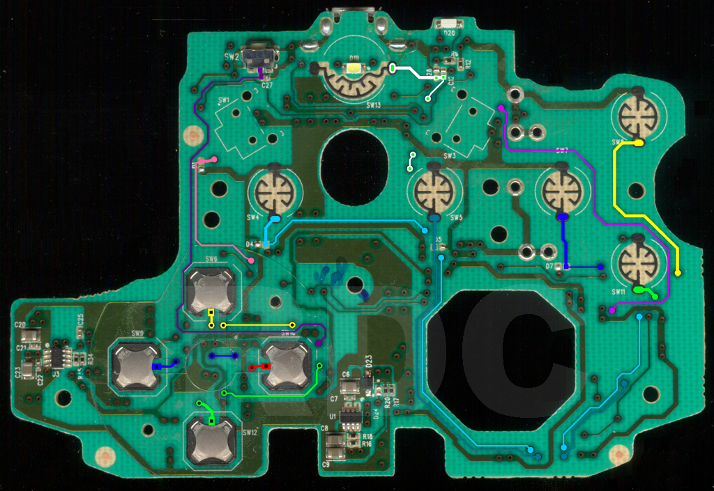 New Ps4 Controller Circuit Board Jdm 040 Cuh Zct2u Partial Controller Teardown Viking Community Forums